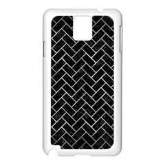 Brick2 Black Marble & Gray Metal 2 Samsung Galaxy Note 3 N9005 Case (white)