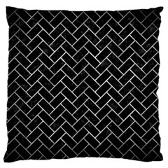 Brick2 Black Marble & Gray Metal 2 Standard Flano Cushion Case (two Sides)