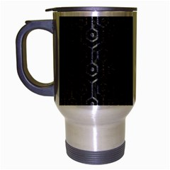 Hexagon1 Black Marble & Gray Leather Travel Mug (silver Gray)