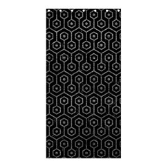 Hexagon1 Black Marble & Gray Leather Shower Curtain 36  X 72  (stall)