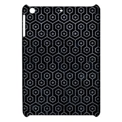 Hexagon1 Black Marble & Gray Leather Apple Ipad Mini Hardshell Case