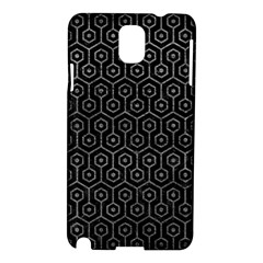 Hexagon1 Black Marble & Gray Leather Samsung Galaxy Note 3 N9005 Hardshell Case