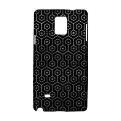 Hexagon1 Black Marble & Gray Leather Samsung Galaxy Note 4 Hardshell Case
