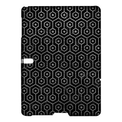Hexagon1 Black Marble & Gray Leather Samsung Galaxy Tab S (10 5 ) Hardshell Case