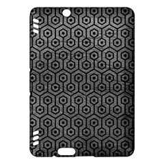 Hexagon1 Black Marble & Gray Leather (r) Kindle Fire Hdx Hardshell Case