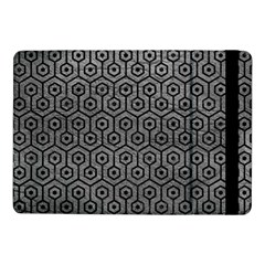 Hexagon1 Black Marble & Gray Leather (r) Samsung Galaxy Tab Pro 10 1  Flip Case