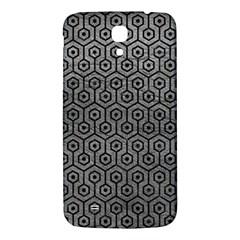 Hexagon1 Black Marble & Gray Leather (r) Samsung Galaxy Mega I9200 Hardshell Back Case