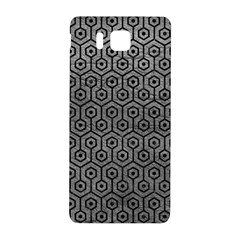 Hexagon1 Black Marble & Gray Leather (r) Samsung Galaxy Alpha Hardshell Back Case