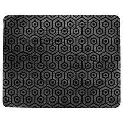 Hexagon1 Black Marble & Gray Leather (r) Jigsaw Puzzle Photo Stand (rectangular)