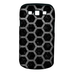 Hexagon2 Black Marble & Gray Leather Samsung Galaxy S Iii Classic Hardshell Case (pc+silicone)