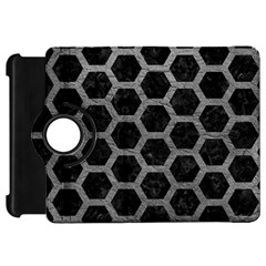 Hexagon2 Black Marble & Gray Leather Kindle Fire Hd 7