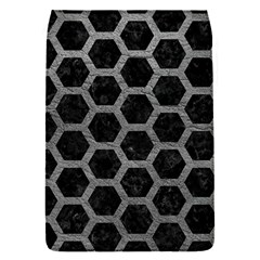 Hexagon2 Black Marble & Gray Leather Flap Covers (s)
