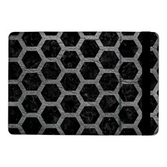 Hexagon2 Black Marble & Gray Leather Samsung Galaxy Tab Pro 10 1  Flip Case