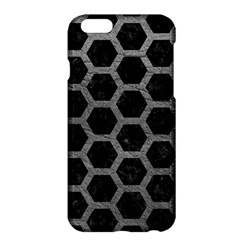 Hexagon2 Black Marble & Gray Leather Apple Iphone 6 Plus/6s Plus Hardshell Case
