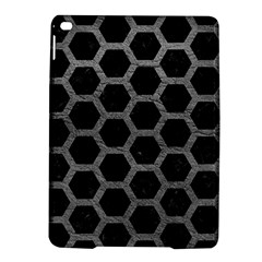 Hexagon2 Black Marble & Gray Leather Ipad Air 2 Hardshell Cases