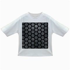 Hexagon2 Black Marble & Gray Leather (r) Infant/toddler T Shirts