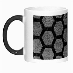 Hexagon2 Black Marble & Gray Leather (r) Morph Mugs