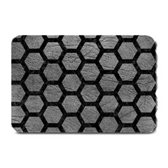 Hexagon2 Black Marble & Gray Leather (r) Plate Mats