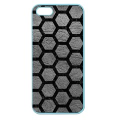 Hexagon2 Black Marble & Gray Leather (r) Apple Seamless Iphone 5 Case (color)