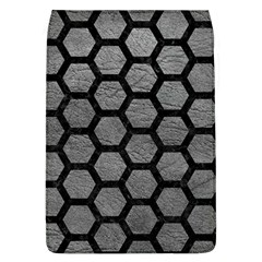 Hexagon2 Black Marble & Gray Leather (r) Flap Covers (l)