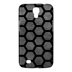 Hexagon2 Black Marble & Gray Leather (r) Samsung Galaxy Mega 6 3  I9200 Hardshell Case