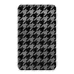 Houndstooth1 Black Marble & Gray Leather Memory Card Reader