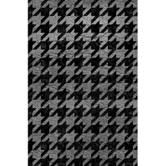 Houndstooth1 Black Marble & Gray Leather 5 5  X 8 5  Notebooks