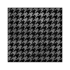 Houndstooth1 Black Marble & Gray Leather Acrylic Tangram Puzzle (6  X 6 )