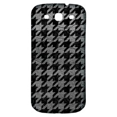 Houndstooth1 Black Marble & Gray Leather Samsung Galaxy S3 S Iii Classic Hardshell Back Case