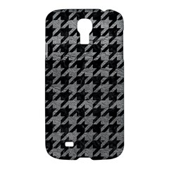 Houndstooth1 Black Marble & Gray Leather Samsung Galaxy S4 I9500/i9505 Hardshell Case