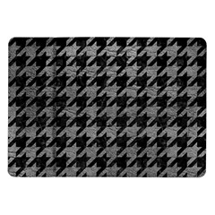 Houndstooth1 Black Marble & Gray Leather Samsung Galaxy Tab 10 1  P7500 Flip Case