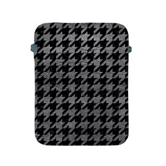 Houndstooth1 Black Marble & Gray Leather Apple Ipad 2/3/4 Protective Soft Cases
