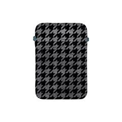 Houndstooth1 Black Marble & Gray Leather Apple Ipad Mini Protective Soft Cases