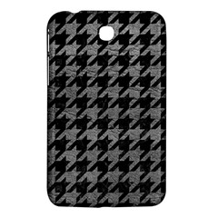 Houndstooth1 Black Marble & Gray Leather Samsung Galaxy Tab 3 (7 ) P3200 Hardshell Case