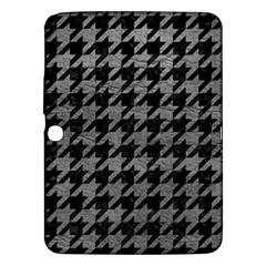 Houndstooth1 Black Marble & Gray Leather Samsung Galaxy Tab 3 (10 1 ) P5200 Hardshell Case