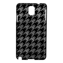 Houndstooth1 Black Marble & Gray Leather Samsung Galaxy Note 3 N9005 Hardshell Case