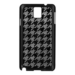 Houndstooth1 Black Marble & Gray Leather Samsung Galaxy Note 3 N9005 Case (black)