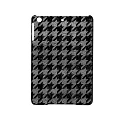 Houndstooth1 Black Marble & Gray Leather Ipad Mini 2 Hardshell Cases