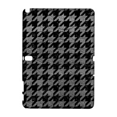 Houndstooth1 Black Marble & Gray Leather Galaxy Note 1