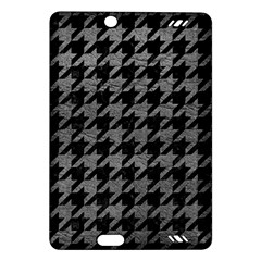 Houndstooth1 Black Marble & Gray Leather Amazon Kindle Fire Hd (2013) Hardshell Case