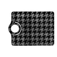 Houndstooth1 Black Marble & Gray Leather Kindle Fire Hd (2013) Flip 360 Case