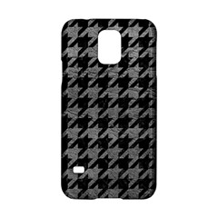 Houndstooth1 Black Marble & Gray Leather Samsung Galaxy S5 Hardshell Case