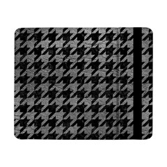 Houndstooth1 Black Marble & Gray Leather Samsung Galaxy Tab Pro 8 4  Flip Case