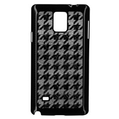 Houndstooth1 Black Marble & Gray Leather Samsung Galaxy Note 4 Case (black)