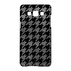 Houndstooth1 Black Marble & Gray Leather Samsung Galaxy A5 Hardshell Case
