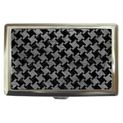 Houndstooth2 Black Marble & Gray Leather Cigarette Money Cases