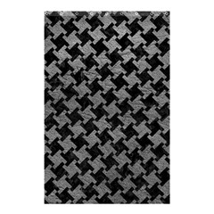 Houndstooth2 Black Marble & Gray Leather Shower Curtain 48  X 72  (small)