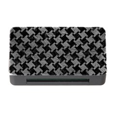 Houndstooth2 Black Marble & Gray Leather Memory Card Reader With Cf