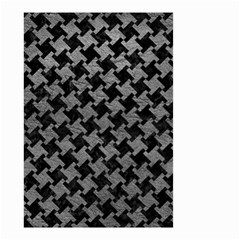 Houndstooth2 Black Marble & Gray Leather Small Garden Flag (two Sides)