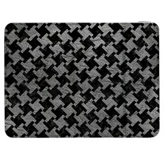 Houndstooth2 Black Marble & Gray Leather Samsung Galaxy Tab 7  P1000 Flip Case